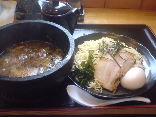 味玉つけ麺(醤油)和風